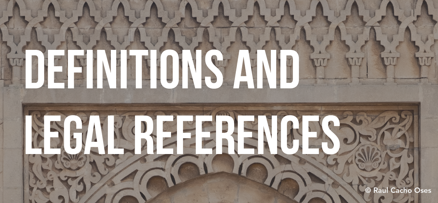 Definitions and Legal References